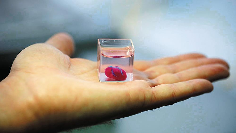 Inima printata 3d cu tesut uman