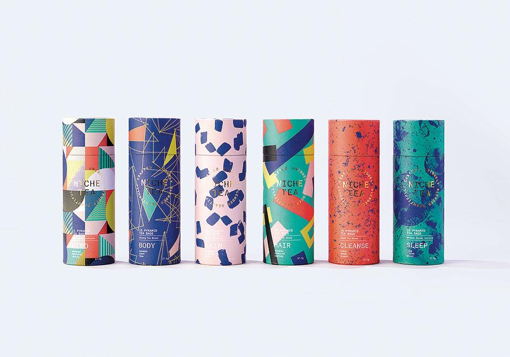 Combinație de modele creată de IWANT design pentru NICHE Tea