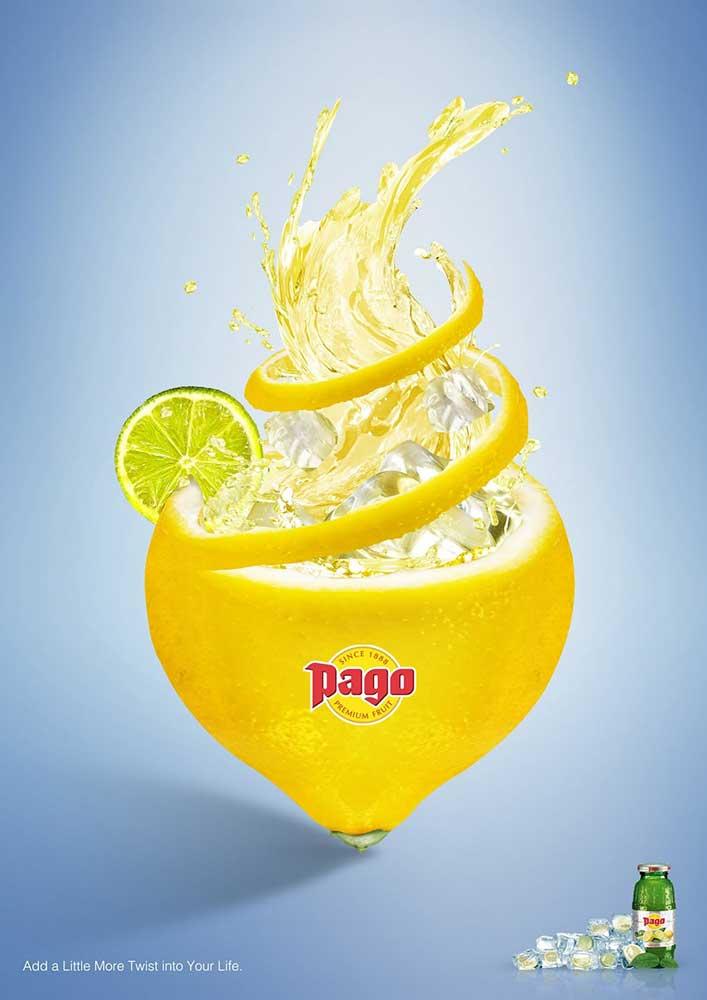 Grafică de marketing realizată de Ferdi Rizkiyanto pentru Pago