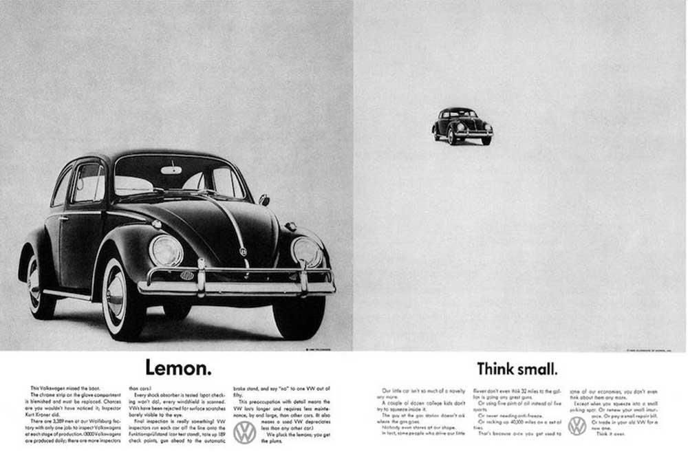 Helmut Kroner, reclamă la Volkswagen (1960)