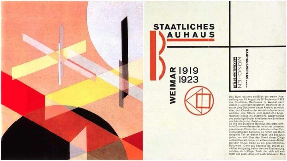 Layout creat de Laszlo Moholy Nagy pentru revista Bauhaus