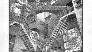 """Relativitate"", M.C. Escher"