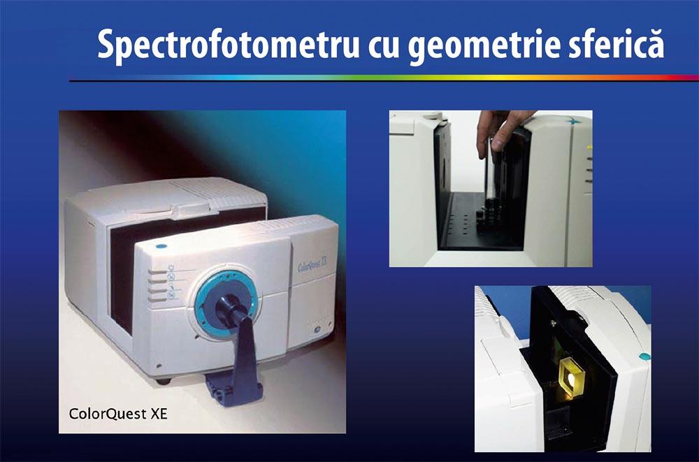 Spectrufotometru cu geometrie sferică