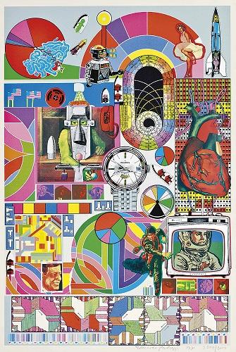 Poster realizat de Eduardo Paolozzi prin tehnica serigrafiei