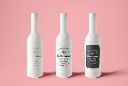 Grafică pentru Ceramic Branding Bottles, CreativeBooster