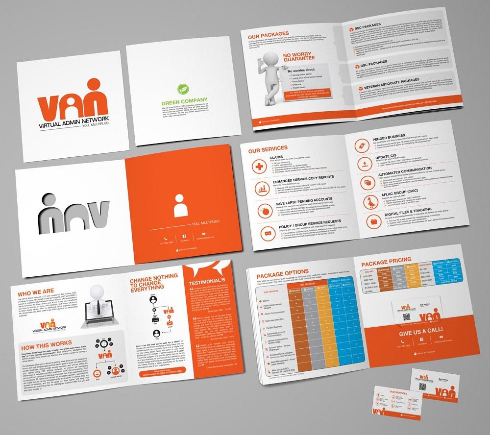 Pliant simplu - design creat de Hero pentru Virtual Admin Network