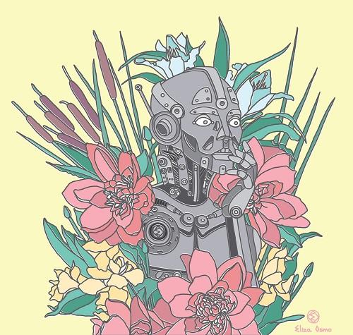 Design cu simbolistică, realizat de Eliza Osmo
