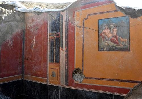 Frescă din situl arheologic de la Pompei