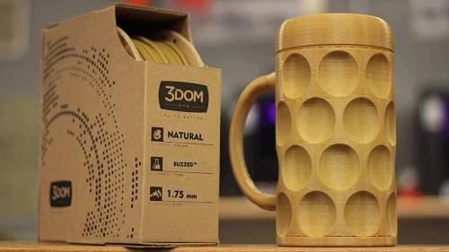 Obiect creat cu filament din bere