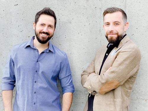 Cristian Oftez (stânga) și Mario Popescu (dreapta), cofondatorii Tailent