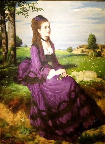 Femeie în rochie violet (1878), Pál Szinyei Merse