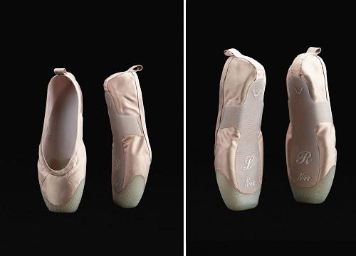 Pantofi pointe creați de Hadar Neeman