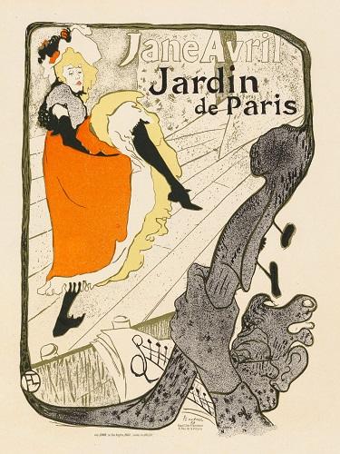 Jane Avril dansând (1893) - Henri de Toulouse-Lautrec